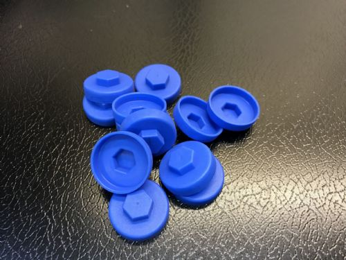 1000no. Solent Blue 19mm Colour Cap (Push On Colour Cap)